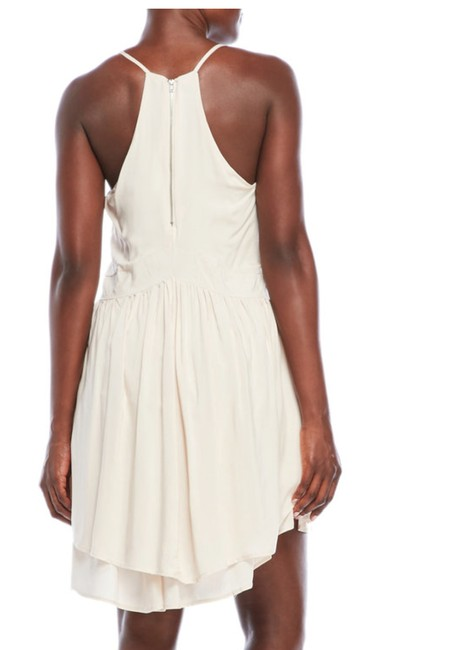 Romeo & Juliet Couture short dress Canvas White Bohemian Sleeveless Lace Trim Racer-back on Tradesy Image 2