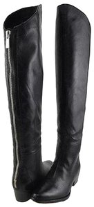 Dolce Vita Leather Over The Knee Black Boots
