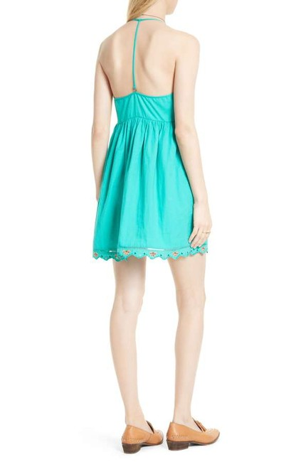 Free People short dress Caribbean green Cotton Halter V-neck Embroidered Scalloped on Tradesy Image 8