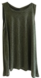 Papermoon Sleeveless Flowy Top Olive Green