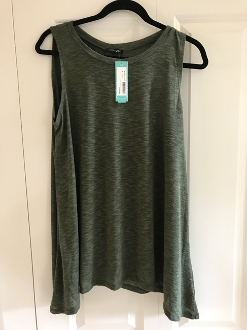 Papermoon Sleeveless Flowy Top Olive Green Image 1