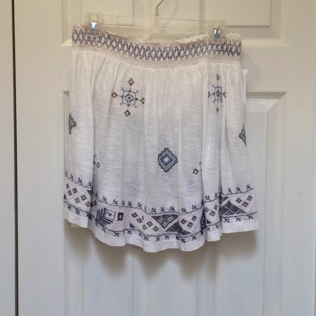 Free People Bandeau Embroidered Elastic Flowy Top ivory Image 1