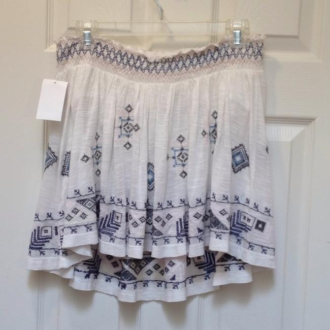 Free People Bandeau Embroidered Elastic Flowy Top ivory Image 3