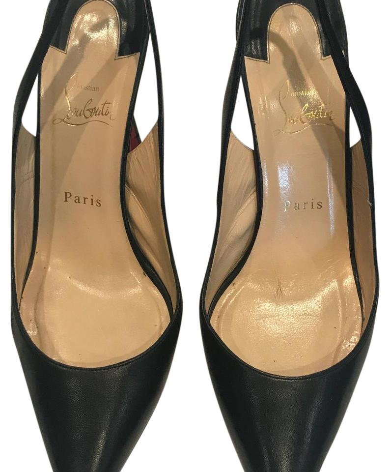 Christian Louboutin Apostrophy Sling Back 100 Pumps Size US 10 ... f5096abd7