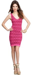 bebe short dress fushia pink on Tradesy