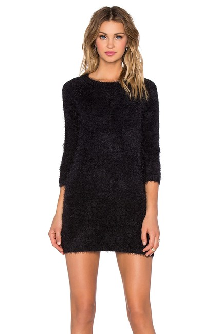 For Love & Lemons short dress Black Tunic Sweater Cocktail Cozy on Tradesy Image 1