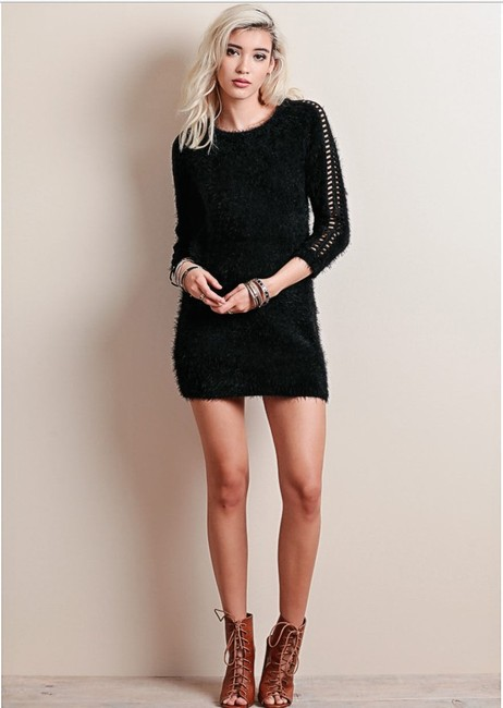For Love & Lemons short dress Black Tunic Sweater Cocktail Cozy on Tradesy Image 2