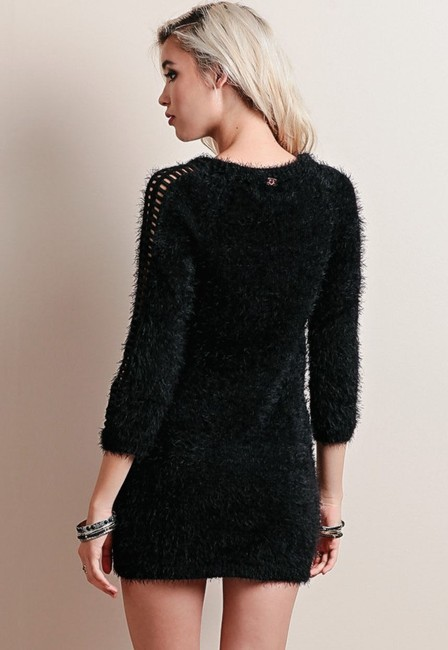 For Love & Lemons short dress Black Tunic Sweater Cocktail Cozy on Tradesy Image 4