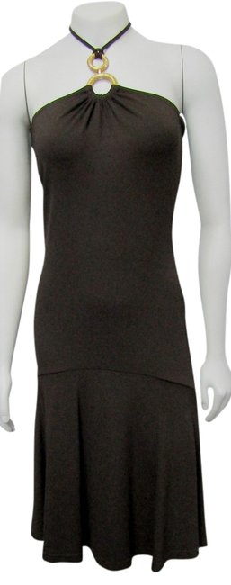 Preload https://img-static.tradesy.com/item/21643455/michael-kors-brown-new-small-gold-ring-halter-coffee-mid-length-cocktail-dress-size-6-s-0-1-650-650.jpg