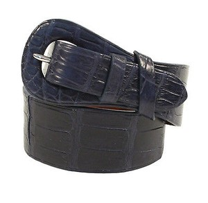 Ralph Lauren Ralph Lauren Purple Label Blue Alligator Belt Large New $1750