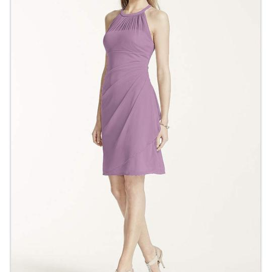 David's Bridal Oasis Imported Polyester F15612 Modern Bridesmaid/Mob Dress Size 8 (M) Image 2
