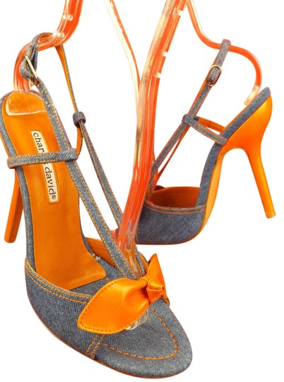 Preload https://img-static.tradesy.com/item/21643571/charles-david-blue-orange-denim-leather-bow-slingback-pumps-sandals-size-us-6-regular-m-b-0-1-540-540.jpg
