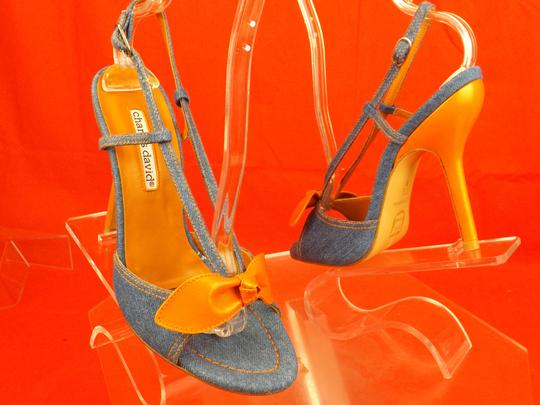 Charles David Blue / Orange Sandals Image 2
