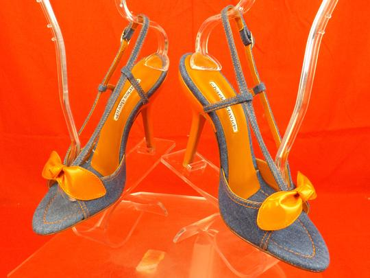 Charles David Blue / Orange Sandals Image 3