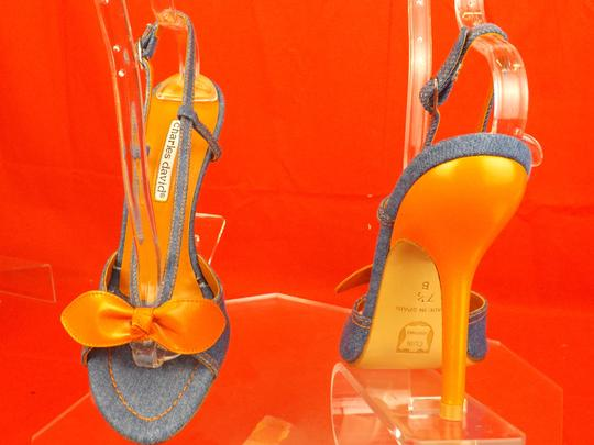 Charles David Blue / Orange Sandals Image 5