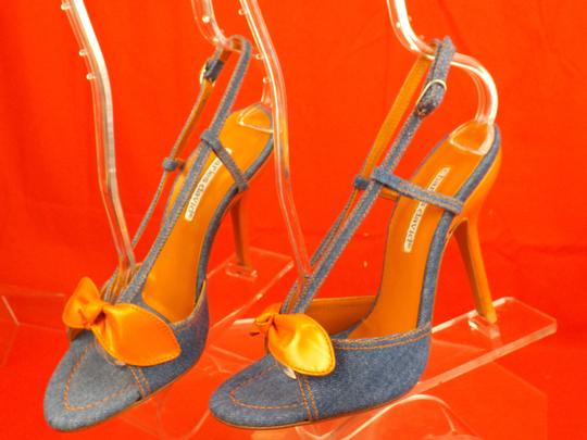 Charles David Blue / Orange Sandals Image 6