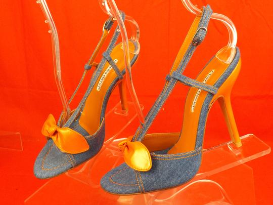 Charles David Blue / Orange Sandals Image 7