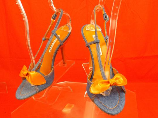 Charles David Blue / Orange Sandals Image 9