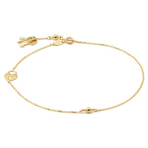 Master Of Bling 10k Yellow Gold Anklet Key and Locks Charm Bare Foot Beach Style Women
