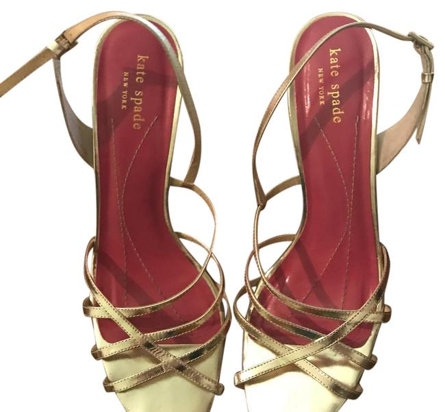 Item - Gold Strappy Formal Shoes Size US 9 Regular (M, B)