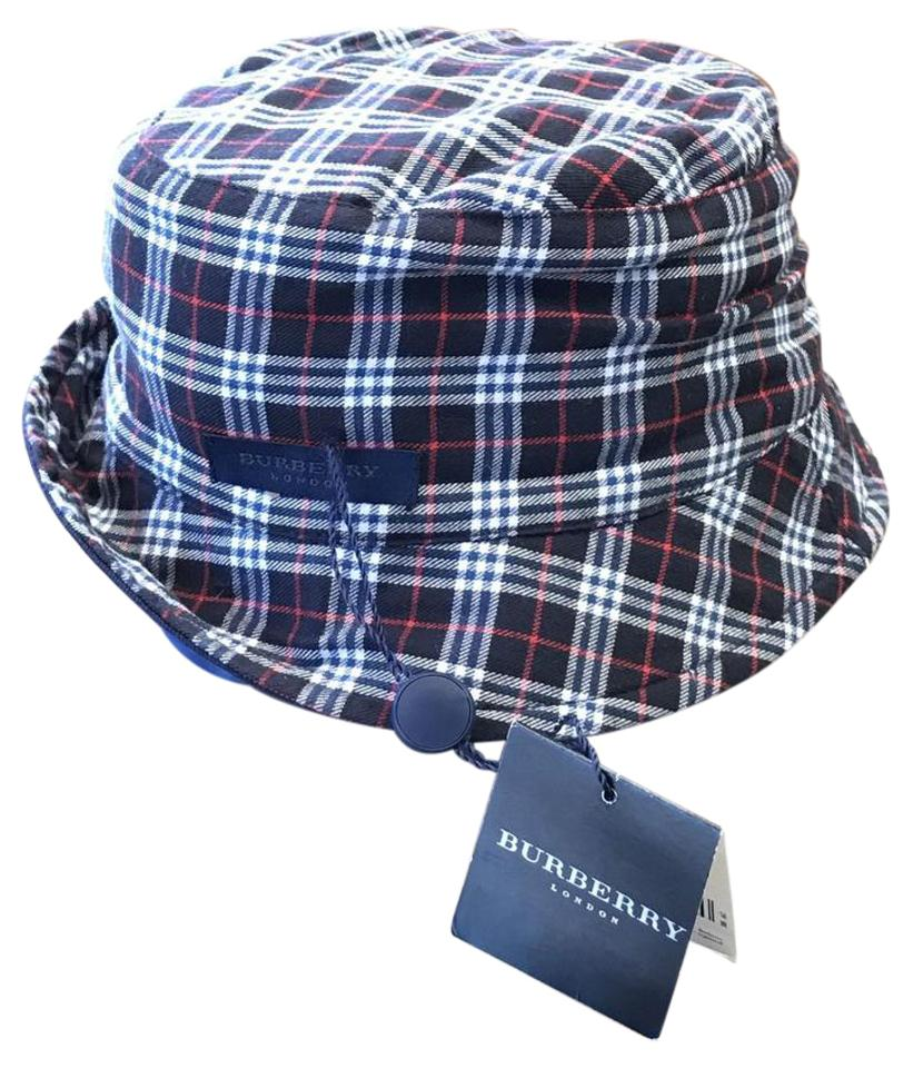 Burberry London Burberry London Channing Blue   Red Plaid Bucket Hat Size  Small ... 66d78b99204