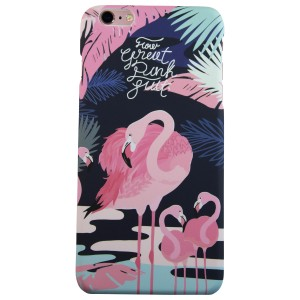 Sunology Hybrid PC Hard Plastic Shell iPhone 7 Plus Case Flamingo Black