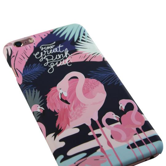 Sunology Hybrid PC Hard Plastic Shell iPhone 7 Plus Case Flamingo Black Image 1