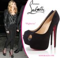 Christian Louboutin Thigh High Ankle Boots Platform Black Pumps Image 10
