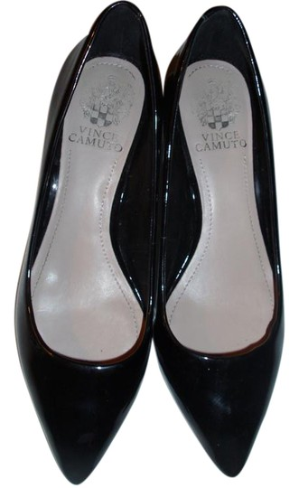 Vince Camuto Classic Shiny Tailored Solid Polished black Pumps Image 0
