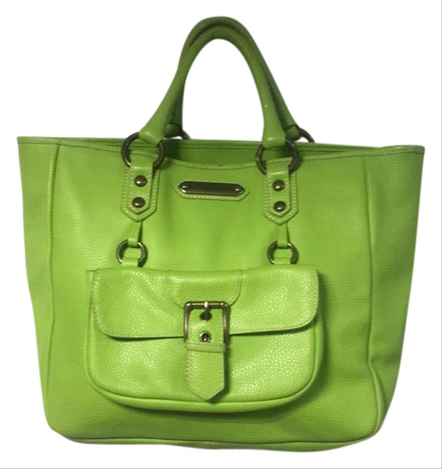 Isabella Fiore Lime Green Leather Satchel Tradesy