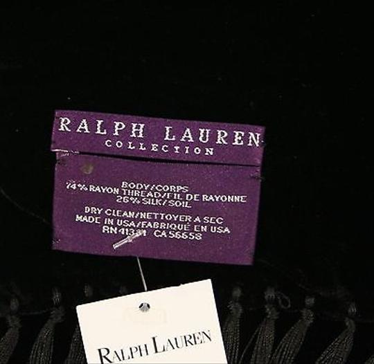 Ralph Lauren Ralph Lauren Purple Label Black Velvet Scarf 10 X 60