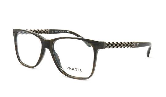 Chanel Tweed Eyeglass Frames : Chanel NEW 3320 Oversized Square Chain Tweed Brown ...