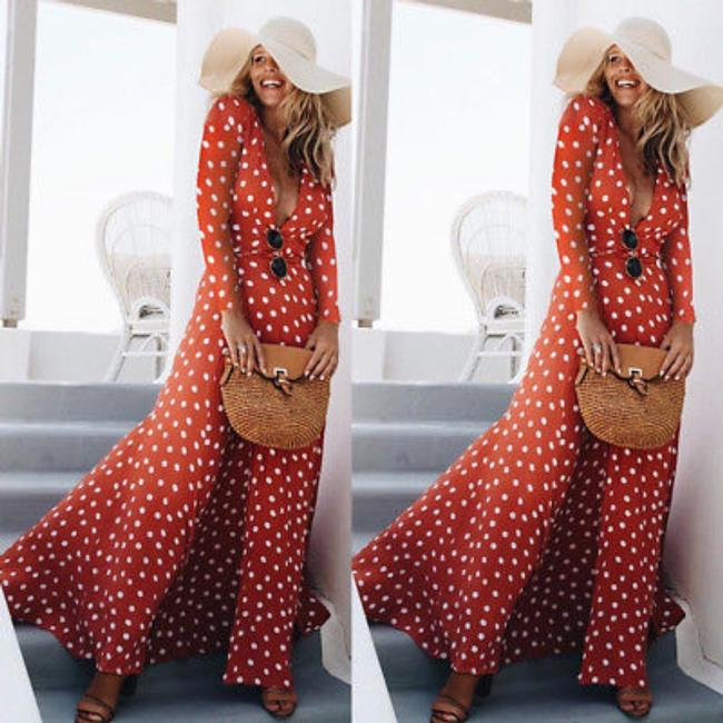 Red Maxi Dress by Other Image 0