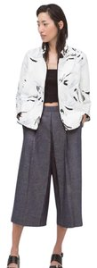 Zara Printed blazer with contrast piping