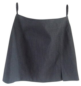 The Limited Formal Stretch Office Mini Skirt Gray