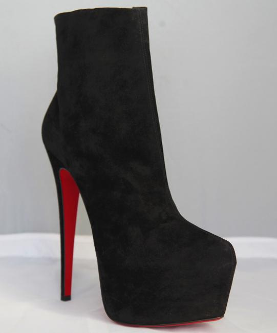 Christian Louboutin Black New 40it Daffodile Suede Platform Ankle High Heel Lady Red Sole Zip Boots/Booties Size EU 40 (Approx. US 10) Regular (M, B) Christian Louboutin Black New 40it Daffodile Suede Platform Ankle High Heel Lady Red Sole Zip Boots/Booties Size EU 40 (Approx. US 10) Regular (M, B) Image 2