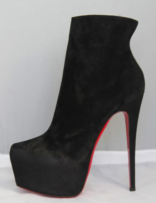 Christian Louboutin Black New 40it Daffodile Suede Platform Ankle High Heel Lady Red Sole Zip Boots/Booties Size EU 40 (Approx. US 10) Regular (M, B) Christian Louboutin Black New 40it Daffodile Suede Platform Ankle High Heel Lady Red Sole Zip Boots/Booties Size EU 40 (Approx. US 10) Regular (M, B) Image 3