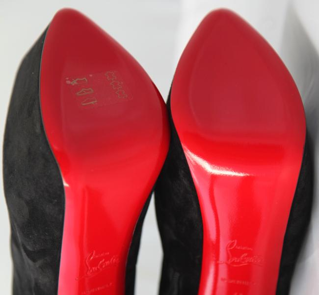 Christian Louboutin Black New 40it Daffodile Suede Platform Ankle High Heel Lady Red Sole Zip Boots/Booties Size EU 40 (Approx. US 10) Regular (M, B) Christian Louboutin Black New 40it Daffodile Suede Platform Ankle High Heel Lady Red Sole Zip Boots/Booties Size EU 40 (Approx. US 10) Regular (M, B) Image 9