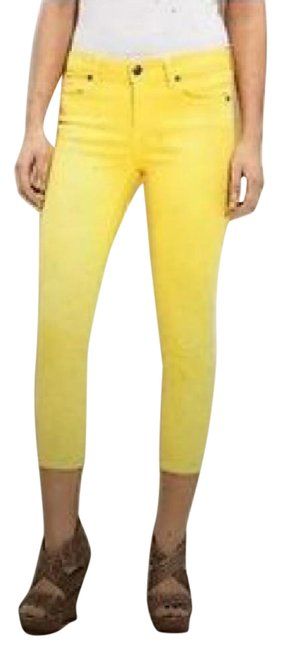 Item - Pale/Baby Yellow Roxie Capri/Cropped Jeans Size 27 (4, S)