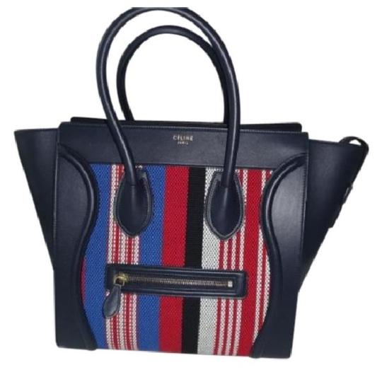 Preload https://img-static.tradesy.com/item/21644946/celine-luggage-mini-symphony-of-silk-navy-with-stripes-leather-and-fabric-satchel-0-0-540-540.jpg