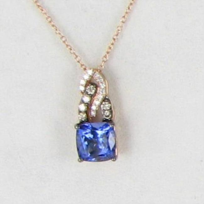 Le Vian Blueberry Tanzanite Chocolate Vanilla Diamond Rose Gold 1.40cts Cushion Pendant Necklace Le Vian Blueberry Tanzanite Chocolate Vanilla Diamond Rose Gold 1.40cts Cushion Pendant Necklace Image 1