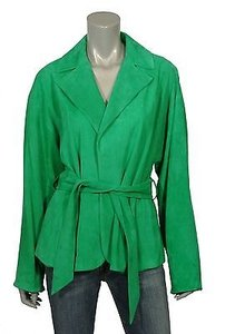 Ralph Lauren Black Label Suede Leather Denita Green Jacket