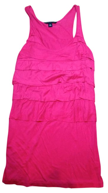 Item - Pink Small Dark P2376 Short Casual Dress Size 4 (S)