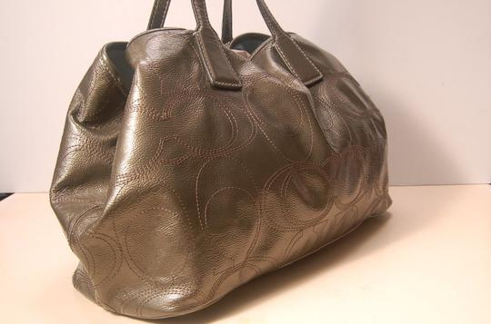 Coach Satchel in Gray/Pewter