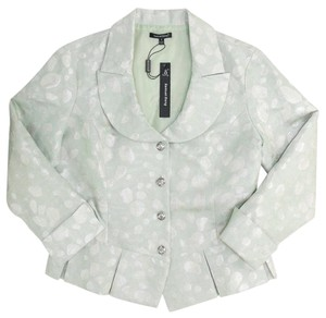 Samuel Dong Party Date Night Formal Silver Hardware Silver Green Blazer