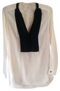 H&M Silk & Top Ivory and black