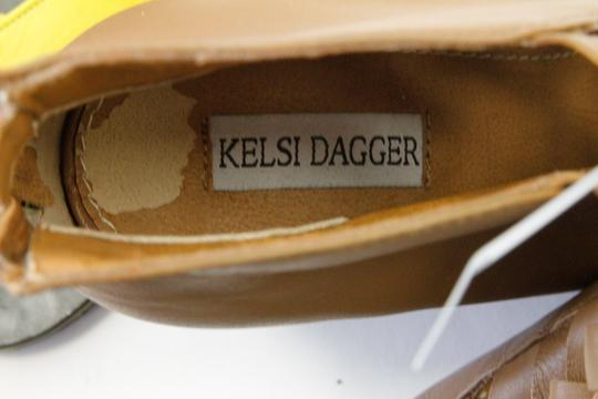 Anthropologie Zipper Wedge Brown / Tan Leather Boots Image 3