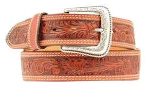 Nocona Nocona Men's Western Floral Embossed Leaf Belt 32'' Tan NWT