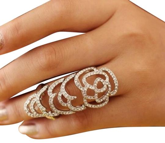Queen Esther Etc Gorgeous Rhinestone Bezel Adjustable Ring Image 0