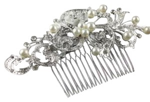 Queen Esther Etc New Flower Crystal & Pearl Bridal Hair Comb